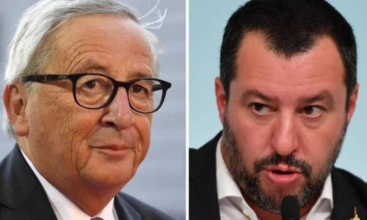 Άγρια κόντρα Γιούνκερ με Σαλβίνι: «Άνθρωποι σαν κι εσένα κατέστρεψαν την Ευρώπη»