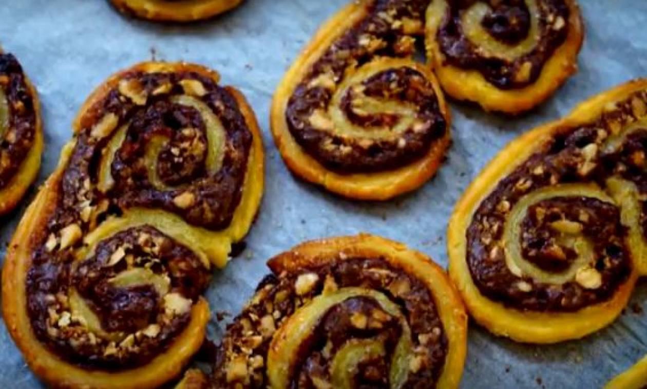 Εύκολη συνταγή για μπισκότα παλμιέ