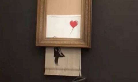 Ποιος γνώριζε τελικά για την... αυτοκαταστροφή του πίνακα του Banksy;
