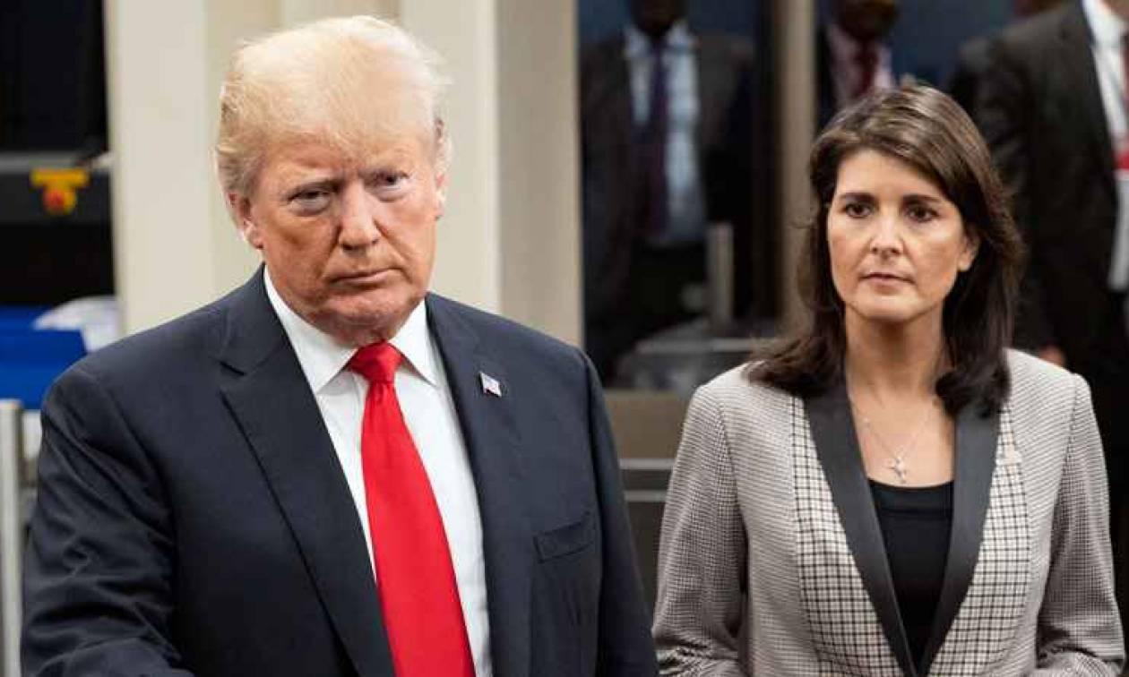 Ραγδαίες εξελίξεις: Παραιτήθηκε η πρέσβειρα των ΗΠΑ στον ΟΗΕ, Νίκι Χέιλι (Vid)