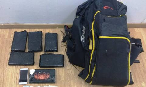 Ελευθέριος Βενιζέλος: Το αλεξίπτωτο πλαγιάς έκρυβε… 6,5 κιλά κοκαΐνης (pics)