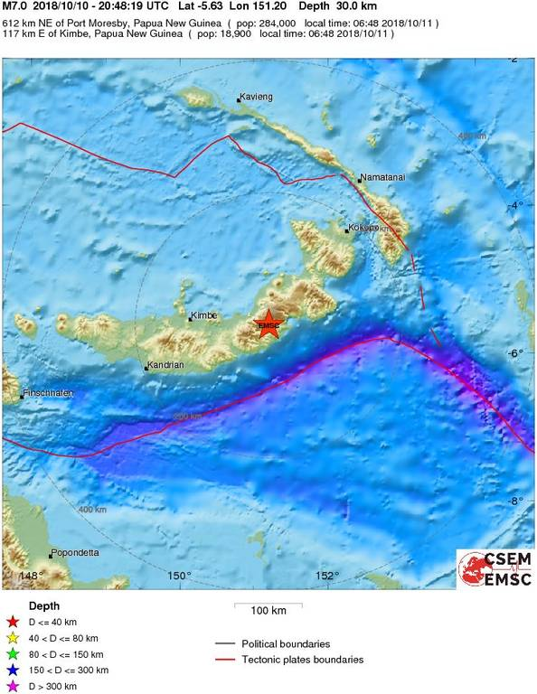 Σεισμός 7 Ρίχτερ στην Παπούα-Νέα Γουινέα: Συναγερμός για τσουνάμι 30 εκατοστών (pics)