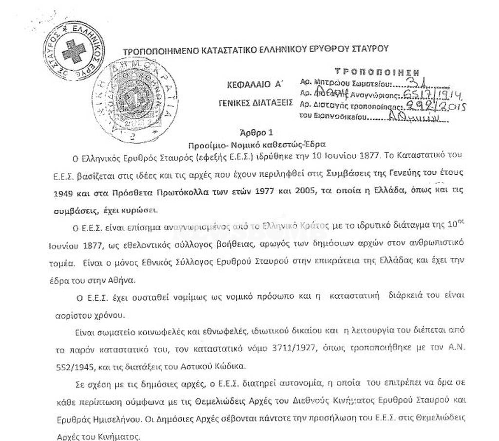 Αποβολή του Ελληνικού Ερυθρού Σταυρού αποφάσισε η Διεθνής Ομοσπονδία