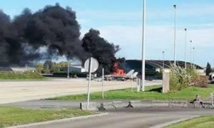 Πανικός σε αεροπορική βάση στο Βέλγιο: F-16 πήρε φωτιά και εξερράγη - Δύο τραυματίες
