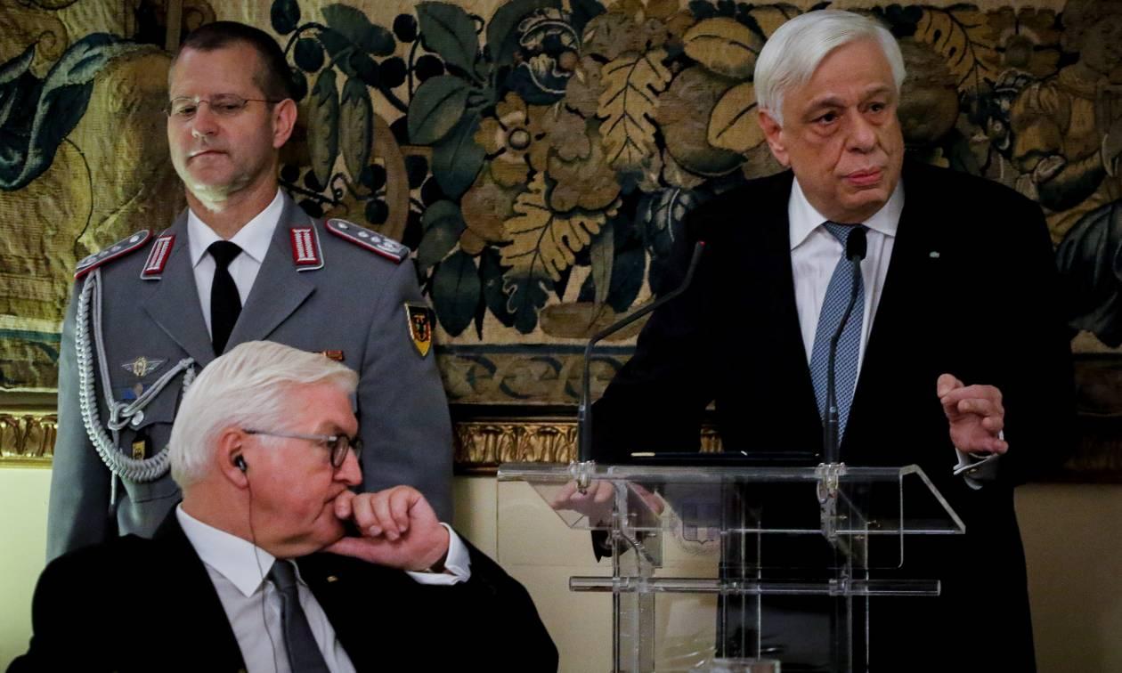 Γερμανικές αποζημιώσεις: Ο Παυλόπουλος μίλησε ανοικτά, ο Σταϊνμάιερ δεν είπε λέξη