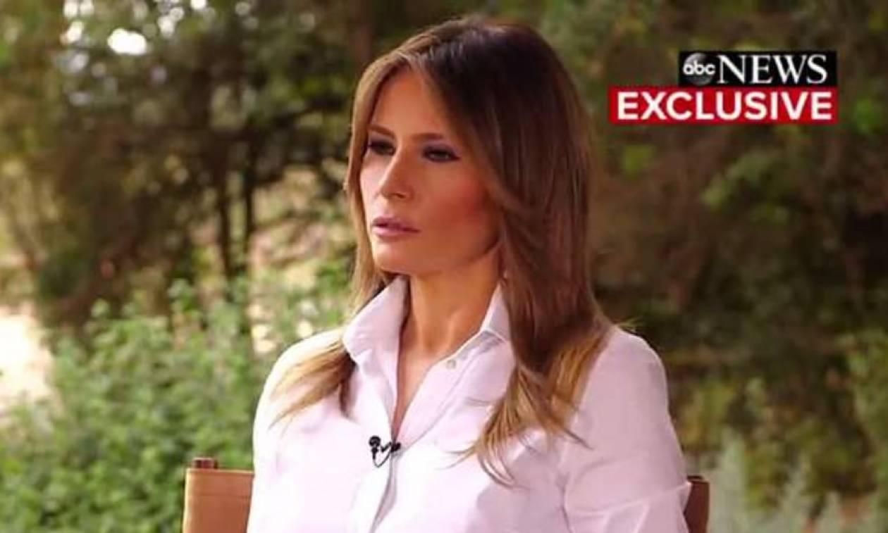 Μελάνια Τραμπ: Τα θύματα σεξουαλικής επίθεσης πρέπει να μιλούν με αποδείξεις (video)