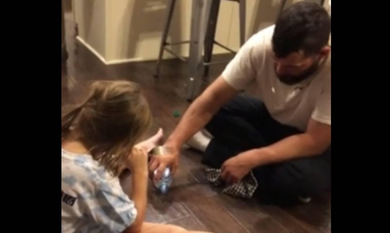 Απίθανη φάρσα πατέρα στην κόρη του. Θα το δοκιμάσετε σίγουρα... (video)