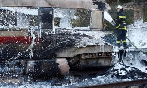 Πανικός στη Γερμανία από πυρκαγιά σε τρένο υψηλής ταχύτητας
