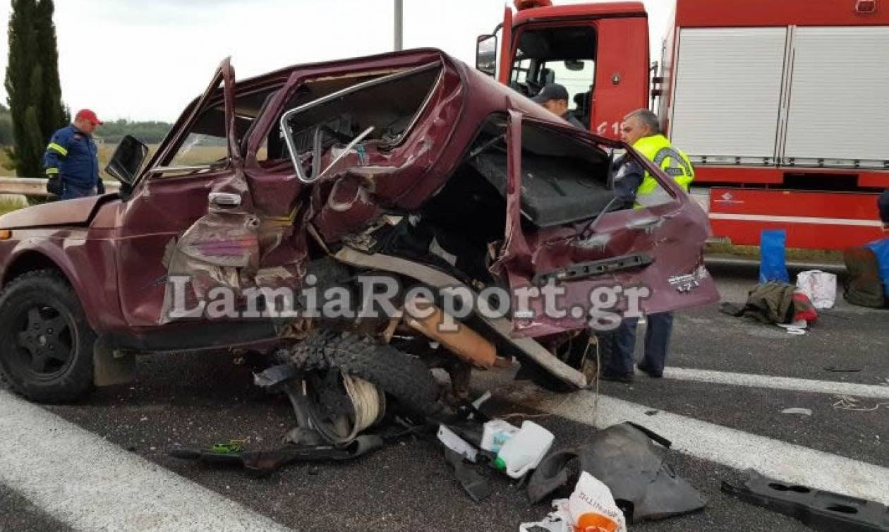 Τροχαίο - σοκ στη Λαμία: Ένας νεκρός και δύο τραυματίες (Σκληρές εικόνες)