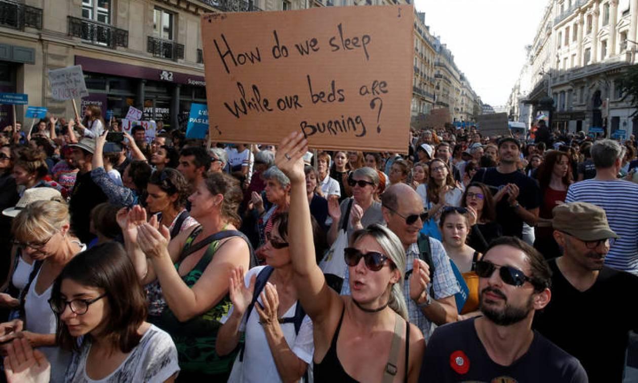 Μεγάλες διαδηλώσεις στη Γαλλία για την υπερθέρμανση του πλανήτη - «Υπάρχει ακόμη χρόνος»