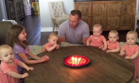 Τι γίνεται όταν ένας πατέρας γιορτάζει τα γενέθλιά του με τις έξι κόρες του (vid)