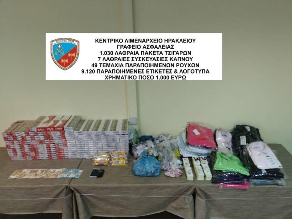 Ηράκλειο Κρήτης: Χιλιάδες λαθραία τσιγάρα και «μαϊμού» ρούχα βρέθηκαν στο σπίτι 41χρονου (pic)