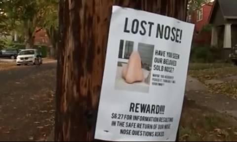 Απίστευτο: Οικογένεια στις ΗΠΑ αναζητά μια… χαμένη μύτη (vid)