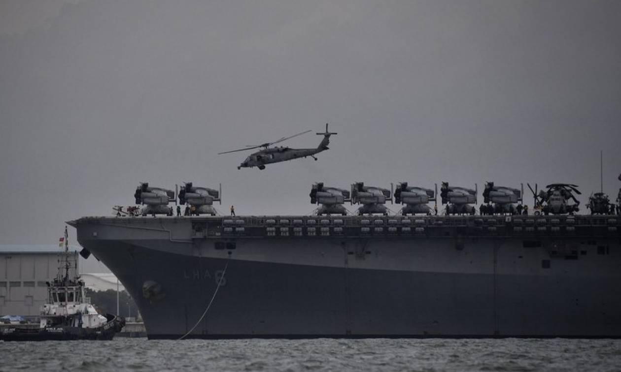 Συνετρίβη στρατιωτικό ελικόπτερο πάνω στο κατάστρωμα του USS Ronald Reagan