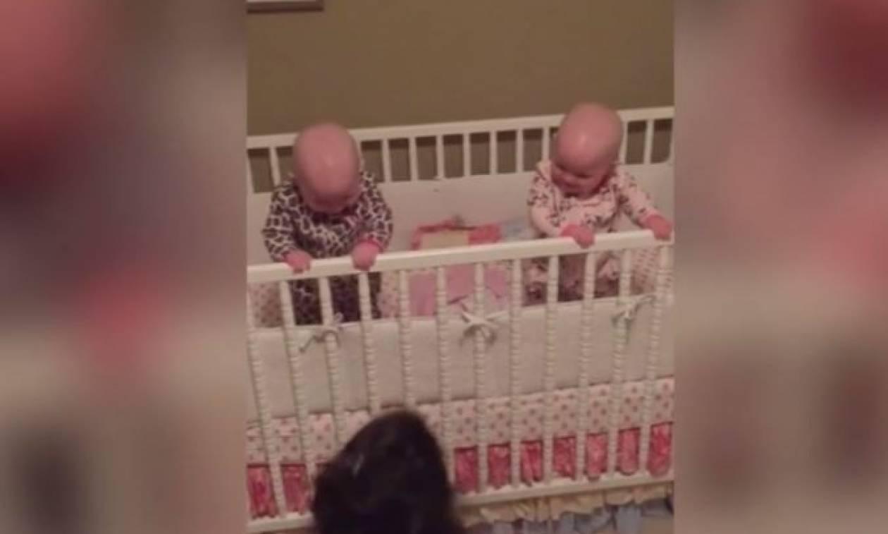 Αυτά είναι τα πιο χαριτωμένα δίδυμα μωρά (vid)