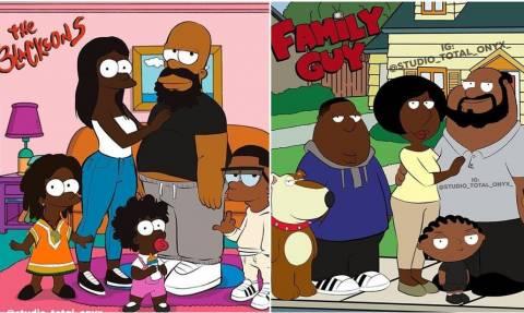 Τύπος πήρε τους Σίμπσονς και τους σχεδίασε από την αρχή... μαύρους!