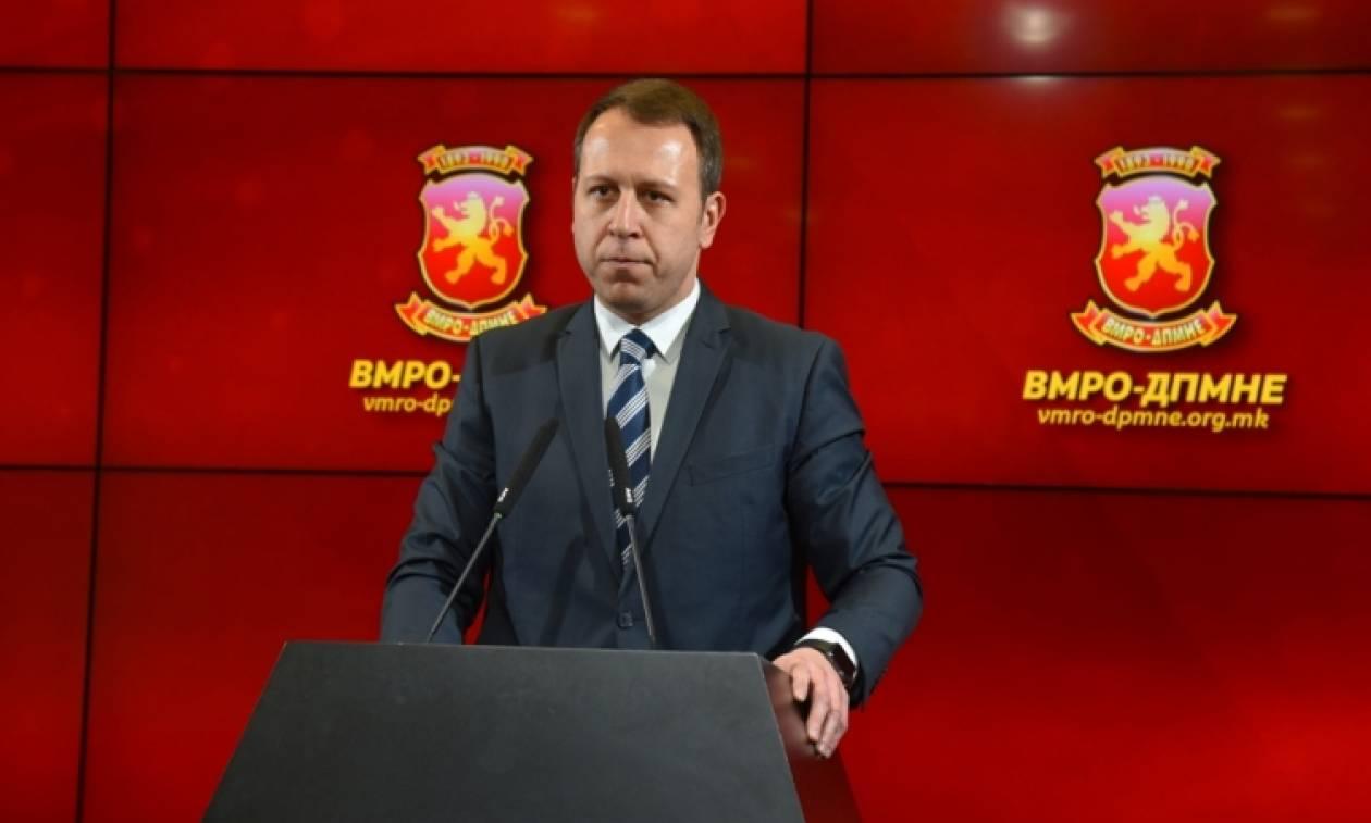 «Βόμβα» του VMRO στο Σκοπιανό: Έδωσαν 2 εκατ. ευρώ σε βουλευτή για να ψηφίσει την πρόταση Ζάεφ