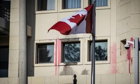Ρουβίκωνας: Το βίντεο της επίθεσης στην πρεσβεία του Καναδά