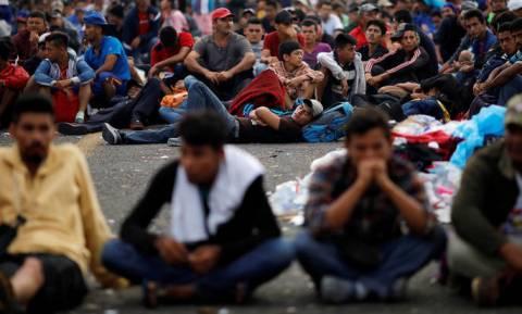 «Καραβάνι» μεταναστών από την Ονδούρα έφθασε στο Μεξικό