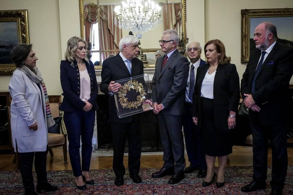 Συνάντηση Παυλόπουλου με τον πρόεδρο και τα μέλη του ΔΣ του Ζαππείου
