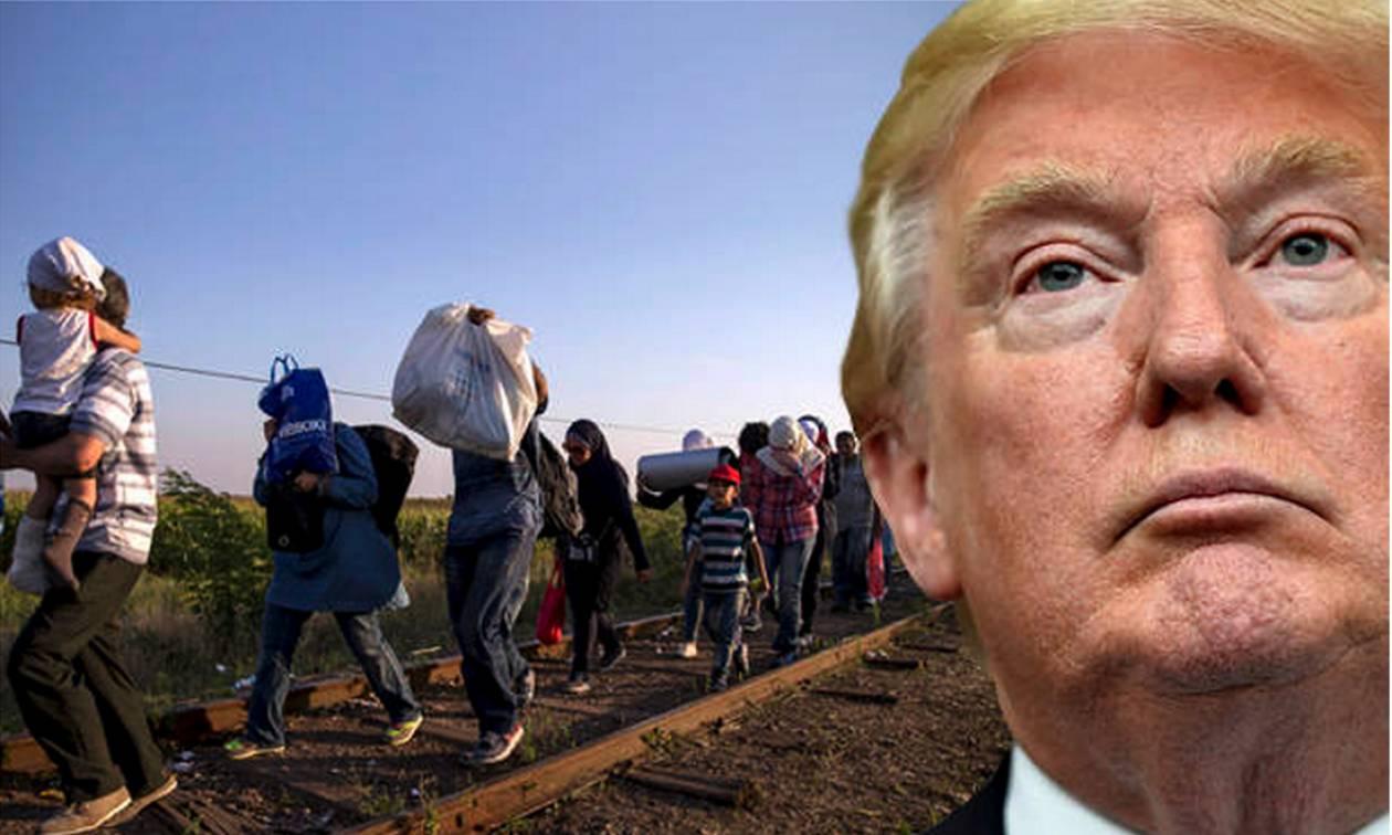 Ο Τραμπ κηρύσσει «πόλεμο» κατά των μεταναστών (Pics+Vid)