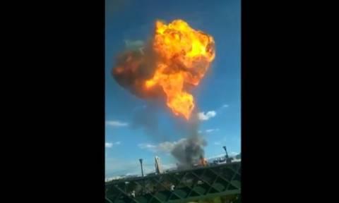 Μεξικό: Πανικός από έκρηξη σε εργοστάσιο παραγωγής ποτών (vid)