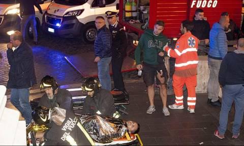 Βραδιά... τρόμου στη Ρώμη: Δεκάδες τραυματίες, φήμες για μαχαίρωμα οπαδού της ΤΣΣΚΑ (video+photos)