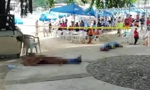 Απίστευτο βίντεο: Έκαναν μπάνιο κι έτρωγαν δίπλα σε πτώματα σαν να μην τρέχει τίποτα!