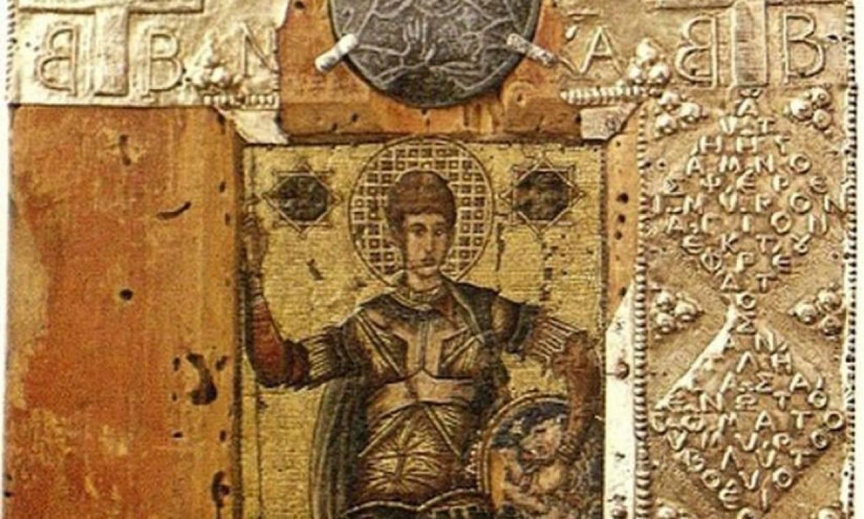 Άγιος Δημήτριος: Βυζαντινή εικόνα με μύρο από το τάφο στη Θεσσαλονίκη (pic)