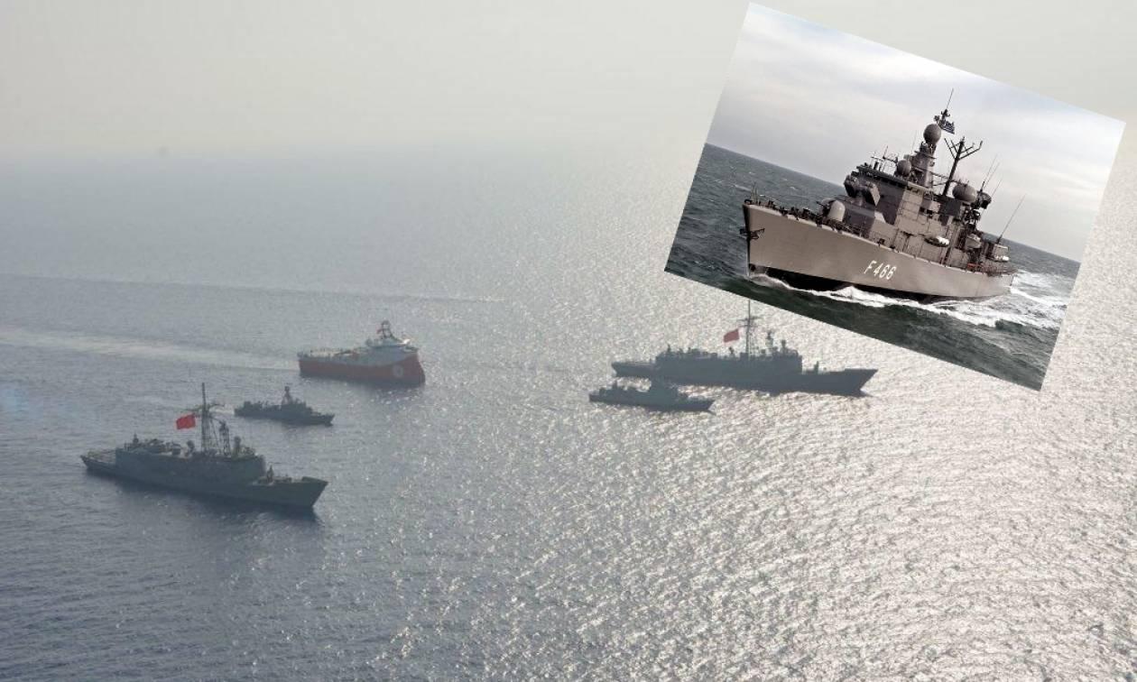 Ιαχές πολέμου στην ανατολική Μεσόγειο: Οι Τούρκοι στοχοποιούν τη φρεγάτα «Νικηφόρος Φωκάς»
