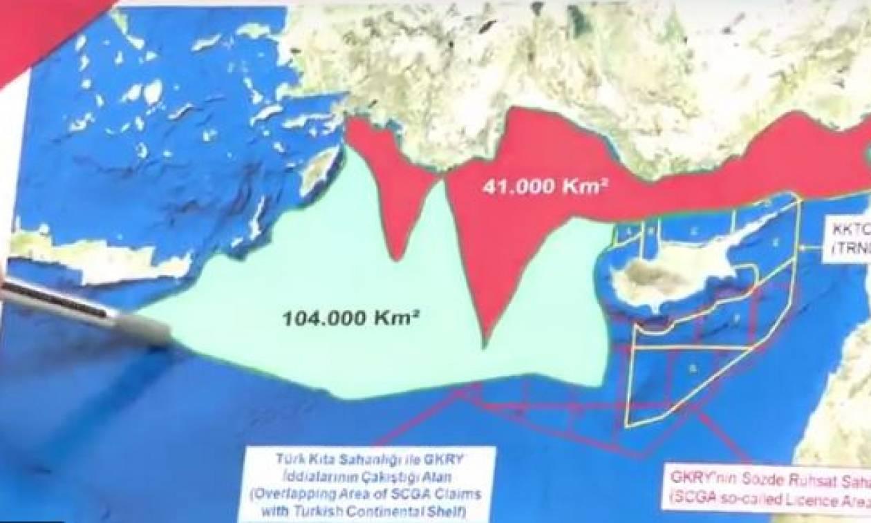 Οι Τούρκοι θέλουν τα κοιτάσματα της Κρήτης – Προκλητικός χάρτης με διεκδικήσεις μέχρι τη Γαύδο