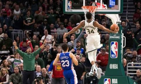 NBA: «Διπλός» Γιάννης στο Top-10 (video)