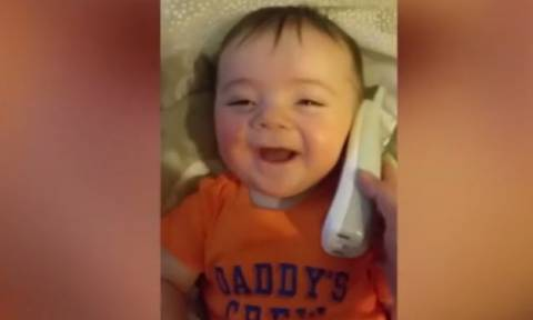 Το πιο χαριτωμένο γέλιο μωρού (vid)