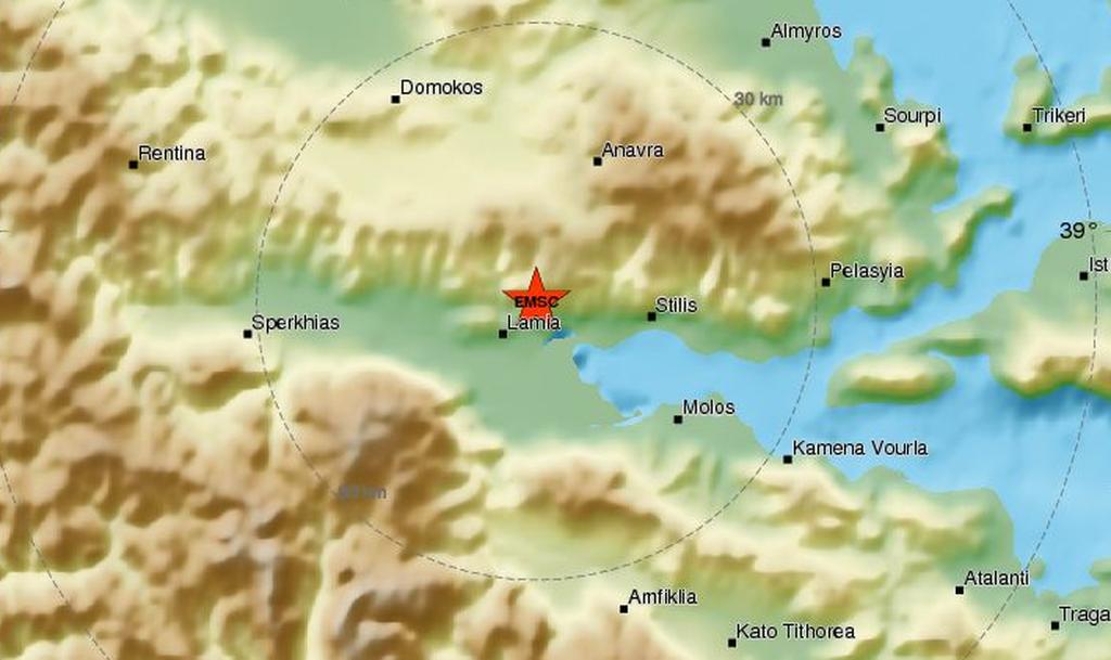 ΕΚΤΑΚΤΟ: Σεισμός ΤΩΡΑ στη Λαμία - Αισθητός μέχρι τη Θεσσαλονίκη