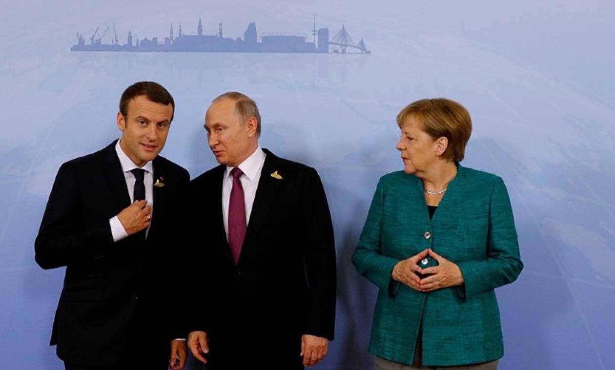 «Παζάρι» στα συντρίμμια της Συρίας: Συνάντηση Ερντογάν, Πούτιν, Μέρκελ, Μακρόν
