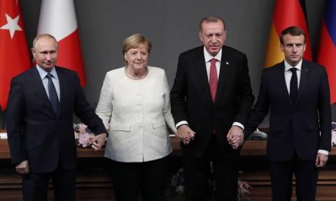 Συνάντηση κορυφής για τη Συρία: Μέρκελ, Πούτιν, Μακρόν και Ερντογάν ζητούν κατάπαυση πυρός διαρκείας