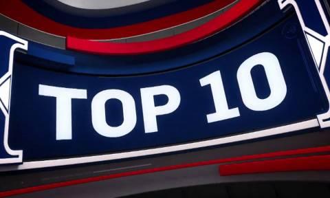 ΝΒΑ Top 10: Το ιστορικό καλάθι του Λεμπρόν πιάνει κορυφή! (vid)