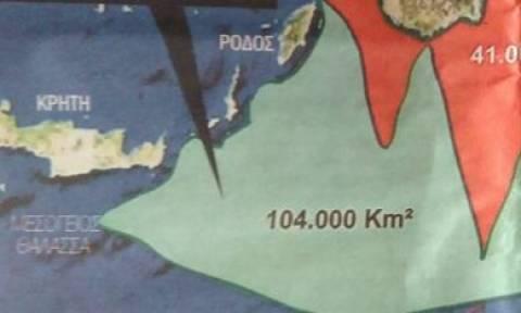 Νέες προκλήσεις - Οι Τούρκοι μπλοκάρουν την Κρήτη: Ο χάρτης – ντοκουμέντο