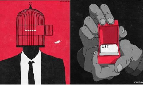 Αυτά τα σκίτσα δείχνουν το «χάλι» της κοινωνίας μας!