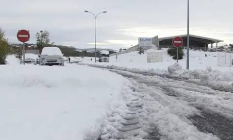 Γαλλία: Χάος στους δρόμους από τις πρωτοφανείς για την εποχή χιονοπτώσεις (pics+vid)