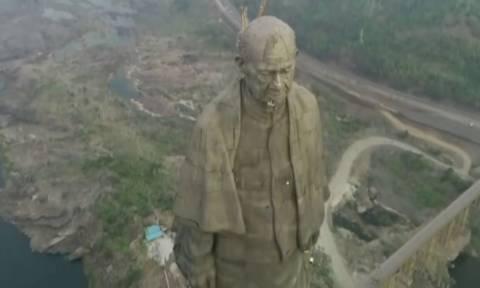 Παγκόσμιο ρεκόρ αλλά για... λίγο: Αποκαλυπτήρια στην Ινδία για το ψηλότερο άγαλμα στον κόσμο
