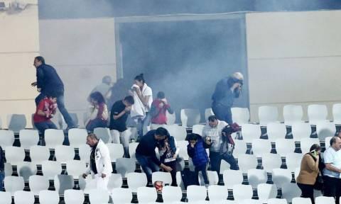 Σκηνές χάους στην Πάτρα, ορατό το -3 για τον Ολυμπιακό (video+photos)