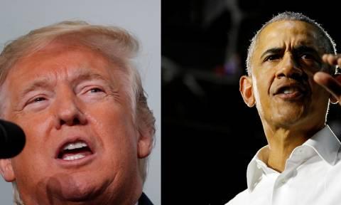 ΗΠΑ: Σφοδρή αντιπαράθεση Ομπάμα - Τραμπ λίγες ημέρες πριν από τις ενδιάμεσες εκλογές