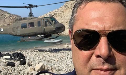 «Πόλεμος» ΝΔ - ΑΝ.ΕΛ. για το «στρατιωτικό ελικόπτερο του Καμμένου»