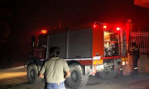 Φωτιά σε μονοκατοικία στο Περιστέρι