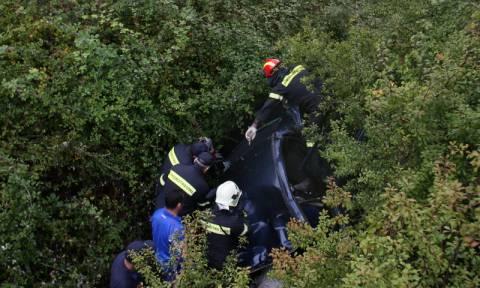 Όχημα έπεσε σε γκρεμό στην Πετρούπολη - Ένας σοβαρά τραυματίας