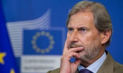 Γιοχάνες Χαν: Να σταματήσουν εδώ και τώρα οι ενταξιακές διαπραγματεύσεις με την Τουρκία