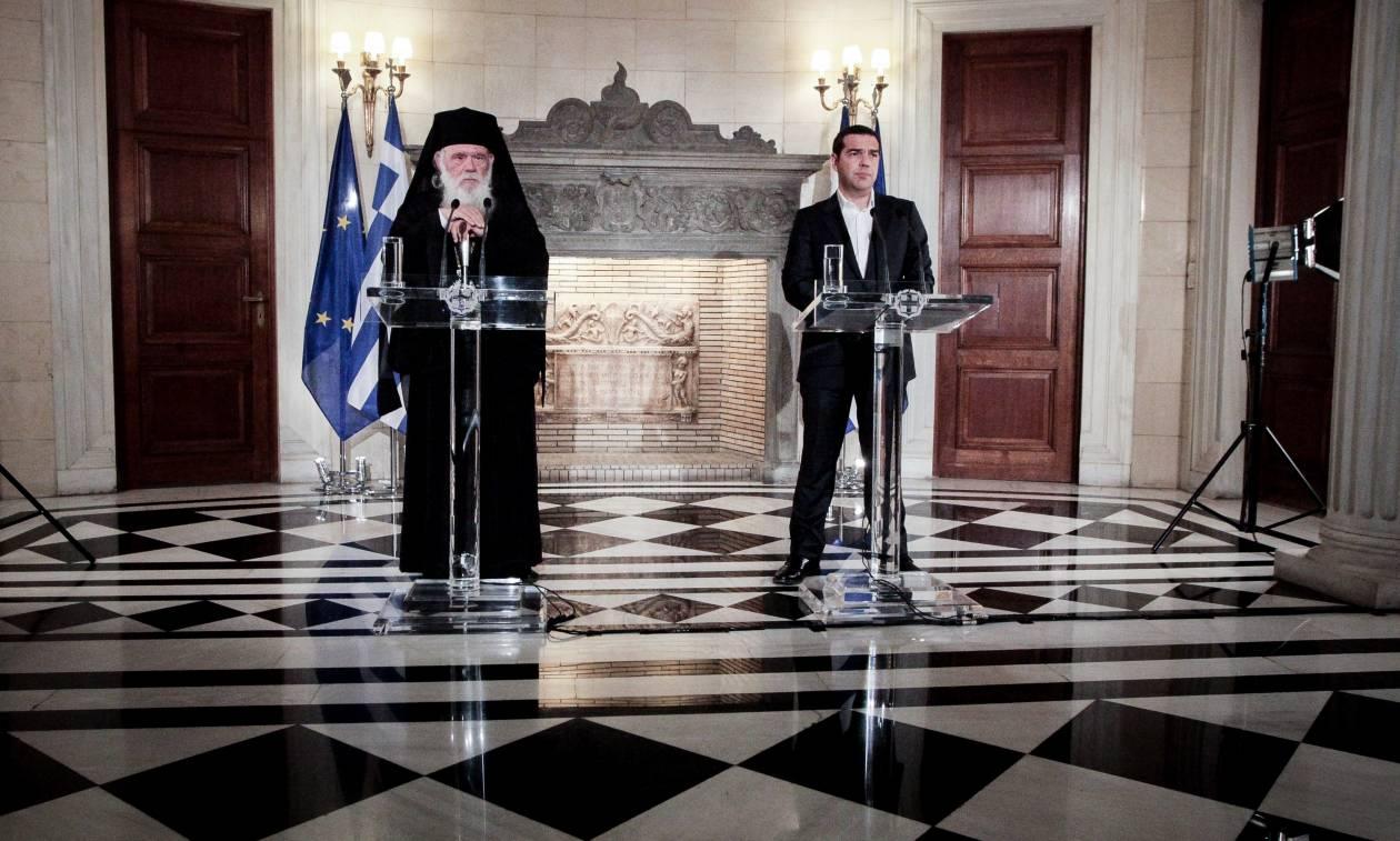 Τσίπρας - Ιερώνυμος: Δεν θα είναι πλέον δημόσιοι υπάλληλοι οι κληρικοί (vid)