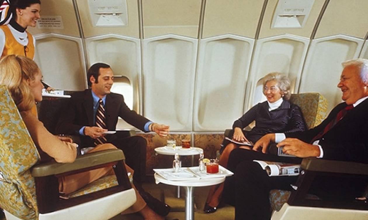 Δείτε πώς ταξίδευαν πριν 50 χρόνια με το αεροπλάνο και θα... σκάσετε από τη ζήλεια! (pics)