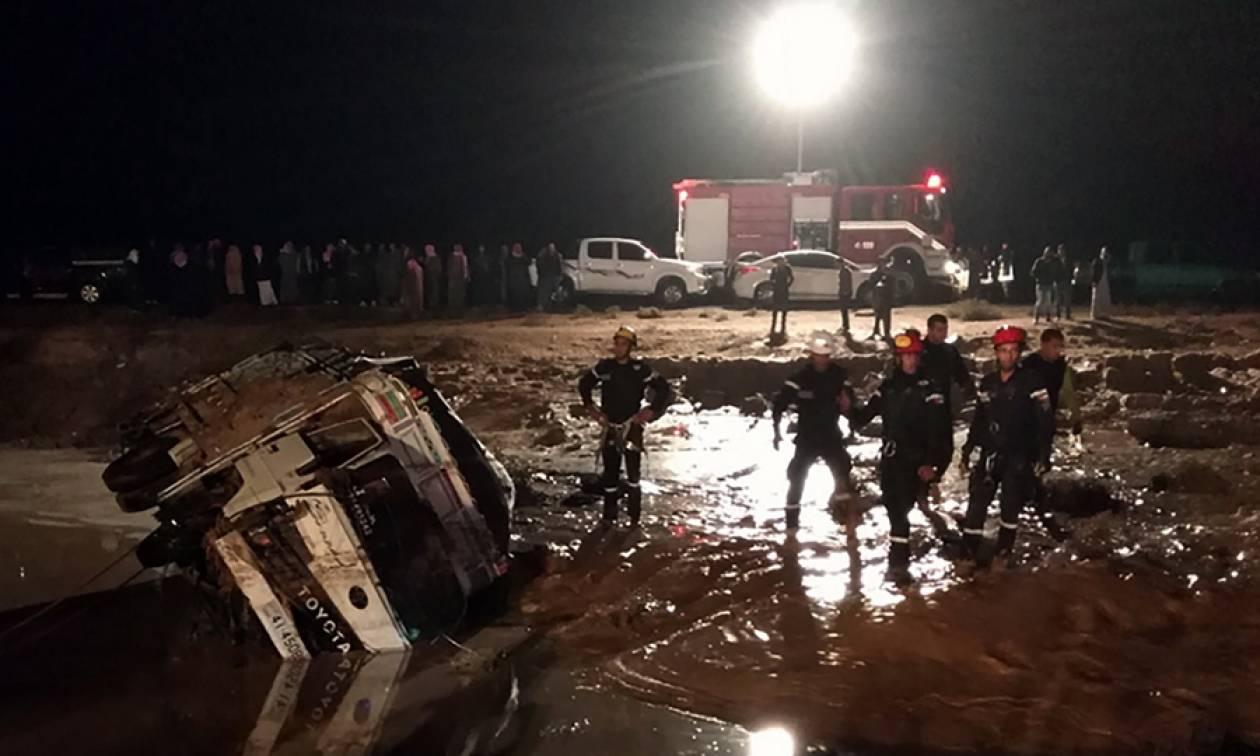 Φονικές πλημμύρες στην Ιορδανία: Εφτά νεκροί και πέντε αγνοούμενοι (vid)